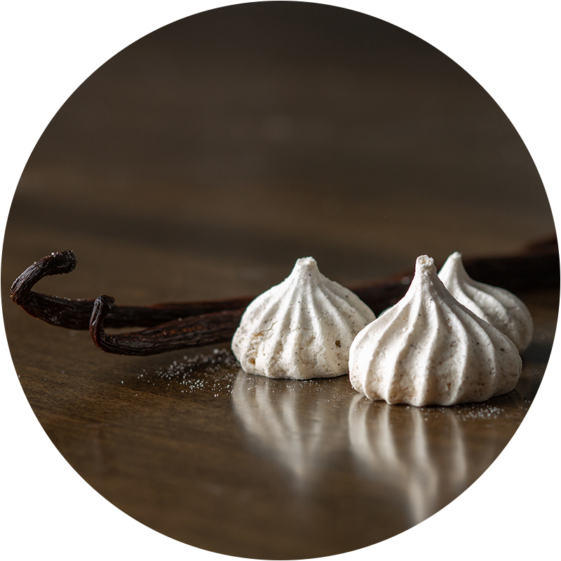 Vanilla Bean - Our Vanilla Bean kisses use vanilla bean powder sourced from providers in Madagascar who ethically trade in high-quality beans sustainably grown under organic conditions. Vanilla is the world's most popular spice.