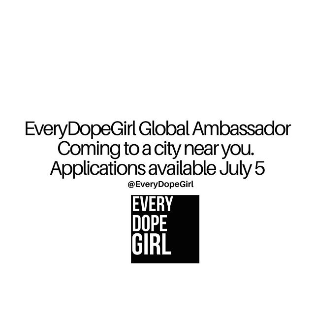 So you want to get involved?! We are looking for dope women from all over the country to represent @EveryDopeGirl through our Ambassador's program— we're dropping the application on Friday, July 5. Tag 2 girl bosses NOW. 👑💕 . . . #blogger #culture  #houston #apparel #womeninbusiness #naturallyshesdope  #style  #fashionista #internationalblogger  #womensupportingwomen #beautiful #htxblogger #houston #womeninmedia  #bloglife #girlpower #womenempowerment #dopeAF #businessowner #melaninmagic #instagram #travelnoire
