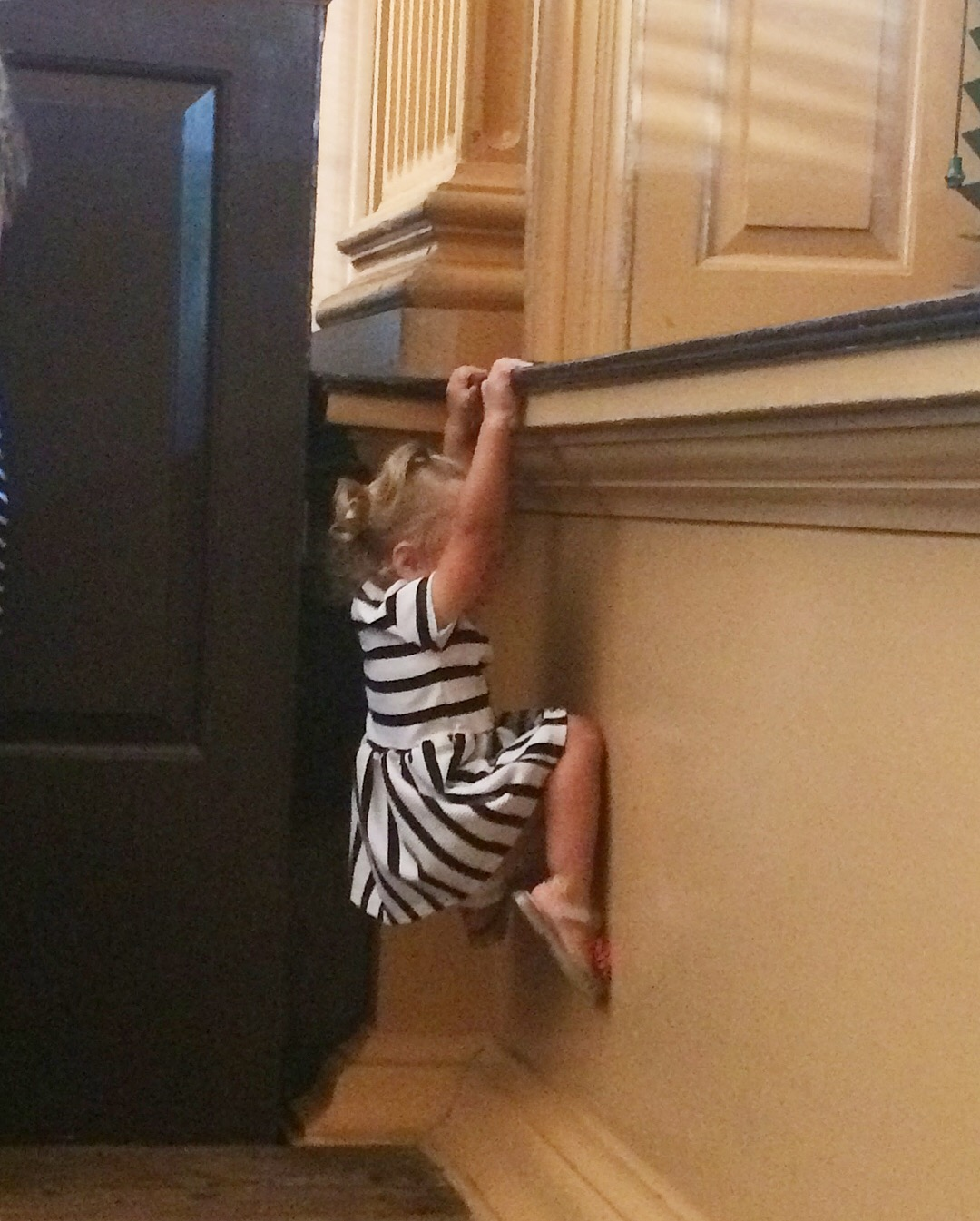 Our toddlers were literally climbing the walls. -