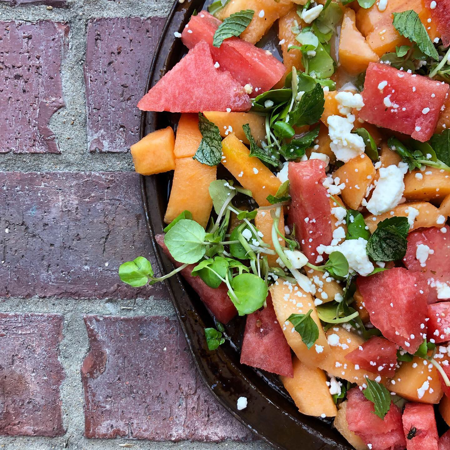 melon watercress salad