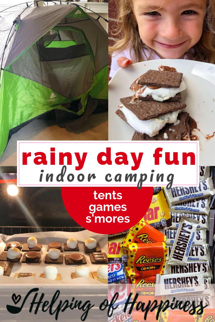 rainy day indoor camping fun