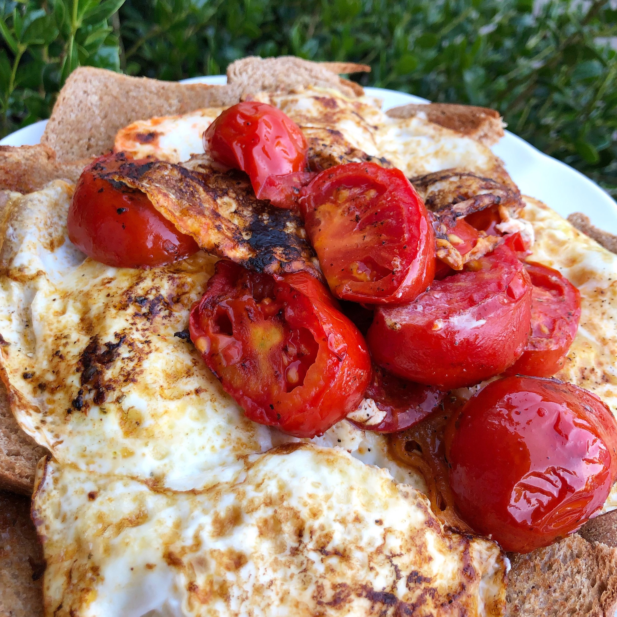 easy eggs and tomatoes on toast 1.JPG