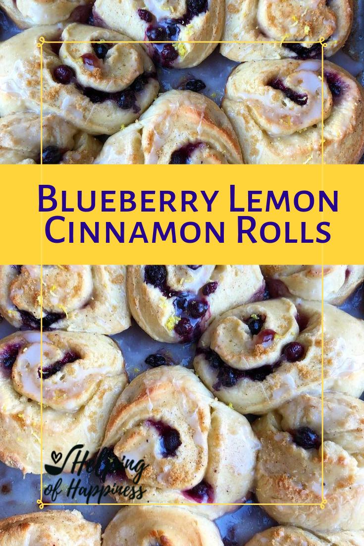 Helping of Happiness blueberry lemon cinnamon rolls