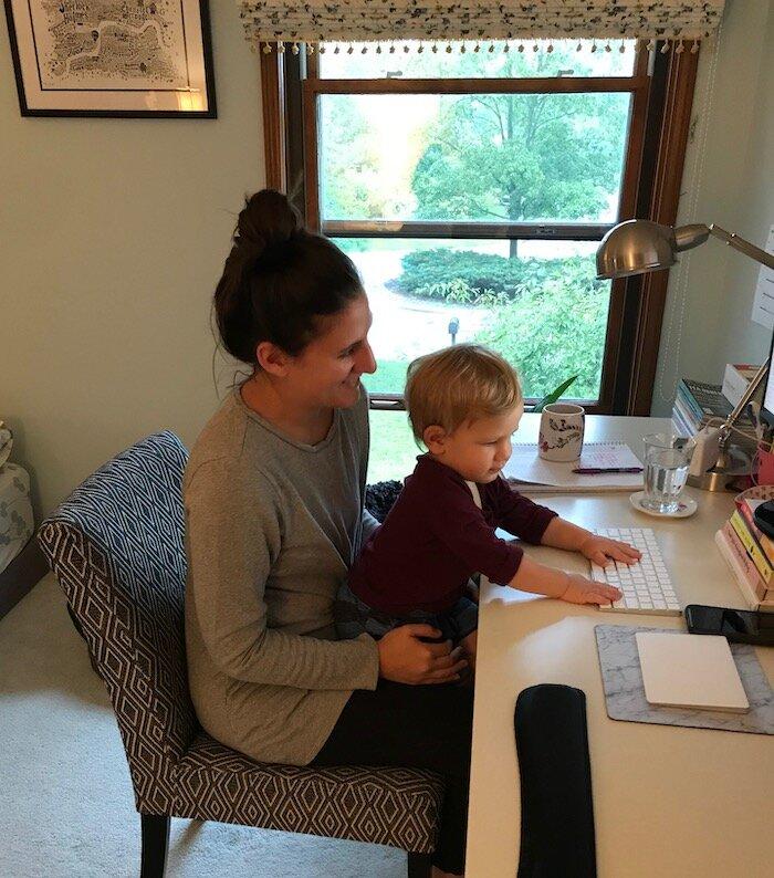 Writing with my nephew Evan :)