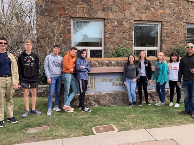 Some of the Catalina Foothills Band looking cool in front of our Flagstaff Office.