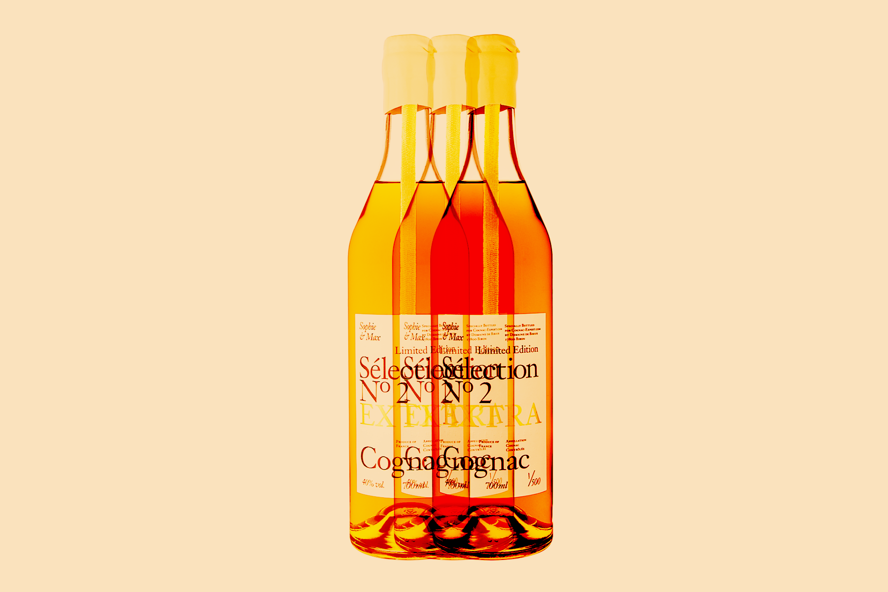 Brother and sister duo, Sophie & Max, are the force behind Cognac Expert, the world's leading website about Cognac with an extensive and thoughtfully curated online Cognac shop. The siblings turned passion into product in 2017, when they launched Sophie & Max's Sélection N° 1 X.O. Cognac —an incredibly unique line bottled by small producer Jacques Petit, that was only available via Cognac Expert in small quantities, for a limited time. Sophie & Max, third generation farm owners who live in the region and manage all sourcing for the product lines, are back with a new chapter in their own Cognac story.For Holiday 2018, they will introduce just 500 bottles of Sophie & Max's Sélection N° 2 EXTRA Cognac, a smooth and gentle blend of three complementary vintages —from 1989,1982, and 1975— aged for 3 decades and more. There will only be 500 bottles of this incredibly rare and premium blend available internationally. -