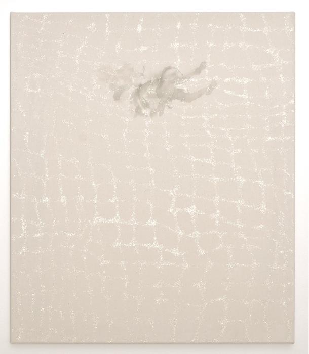 distant silence - flow   acrylic, glitter on canvas  70 x 60  2011