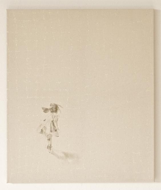 distant silence - turn   acrylic, glitter on canvas  70 x 60  2013