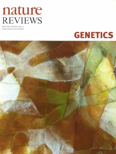 ' Nature Reviews in Genetics ', Vol. 2 no.4, 235-322, April 2001 mineral and seashell pigments,  nikawa , colour pencil on paper