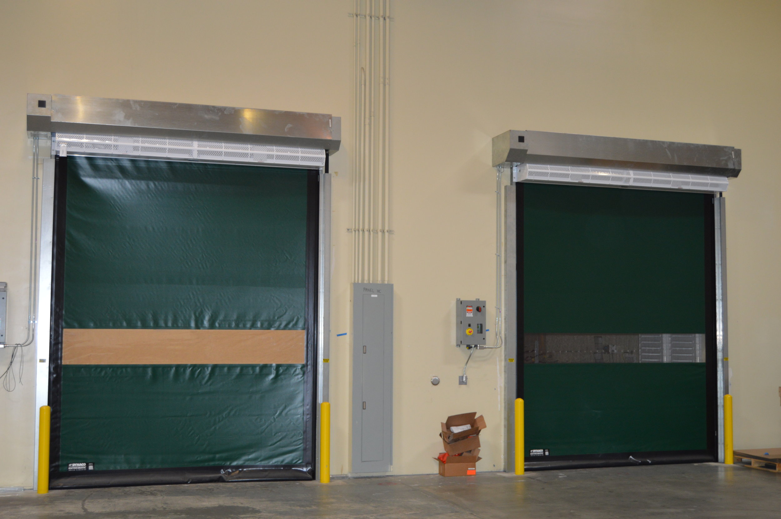 High Speed Doors - High-Speed Rolling Doors are engineered to maximize space, create security, extreme environments, including temperature controlled areas, and for functionality and design for operational locations. We install products that provide strong, fast, and efficient solutions for large openings.