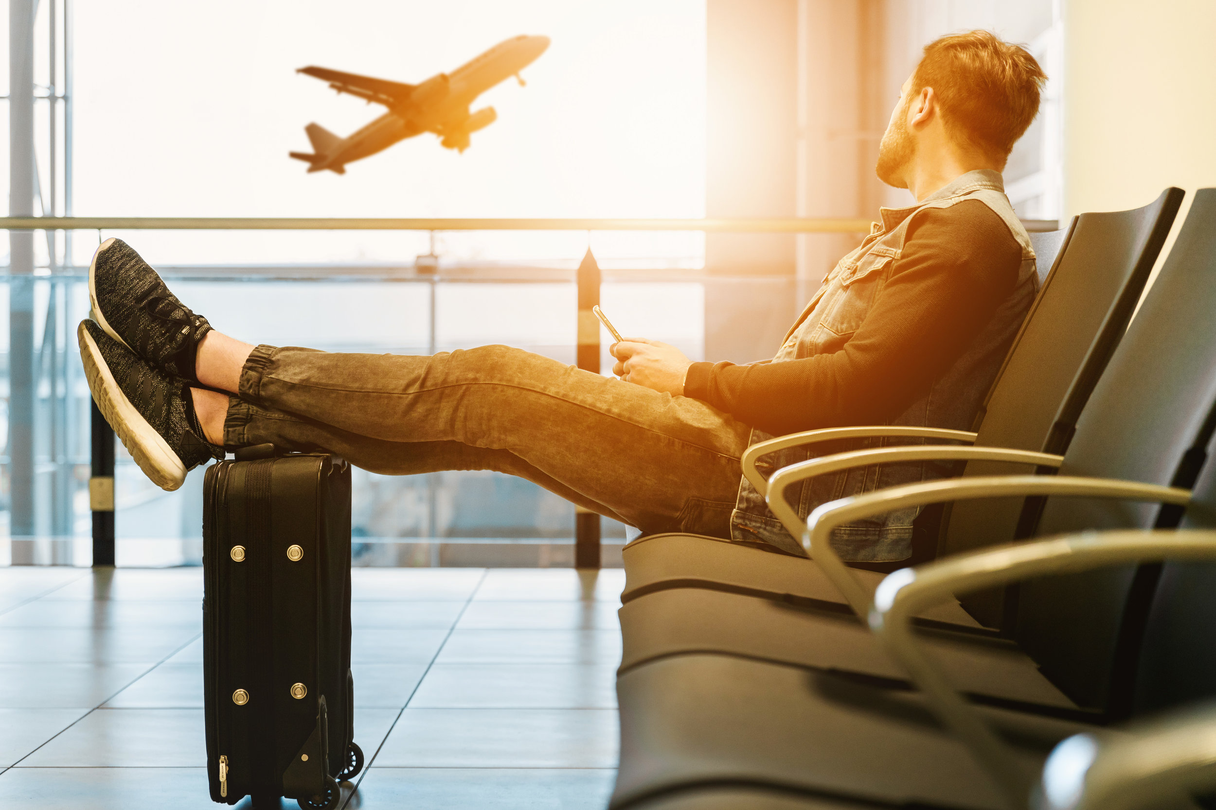"deep-vein thrombosis - ""Air travel increases the risk of deep-vein thrombosis, or the formation of a blood clot often in the legs, and it exposes passengers to germs""."
