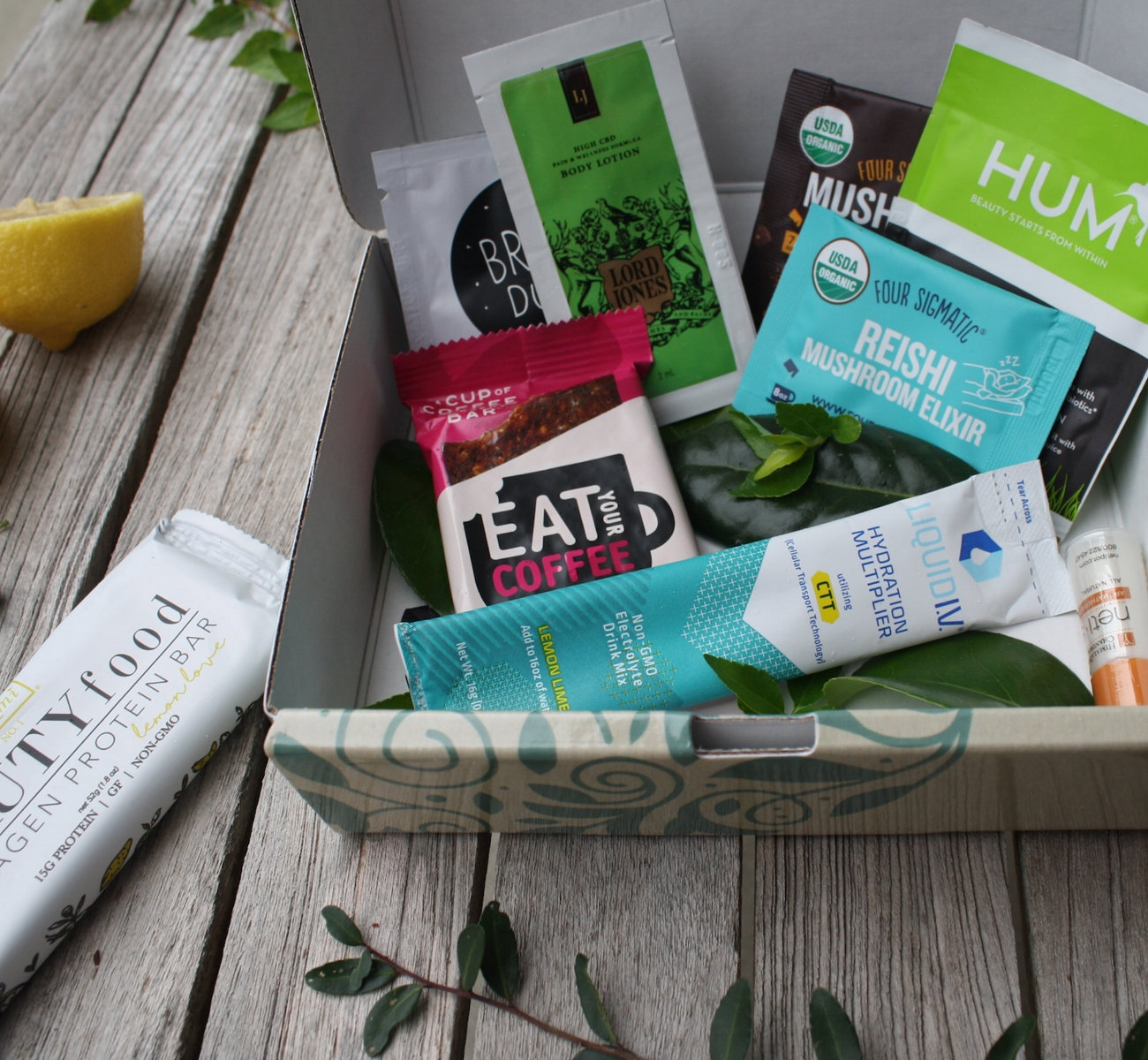 The best part? - We're constantly changing up what you'll get in your boxes.These carefully curated wellness kits will have a rotation of a handful of products. Zigii is constantly changing, and while we will feature staple categories like superfood powders and supplements that we consider