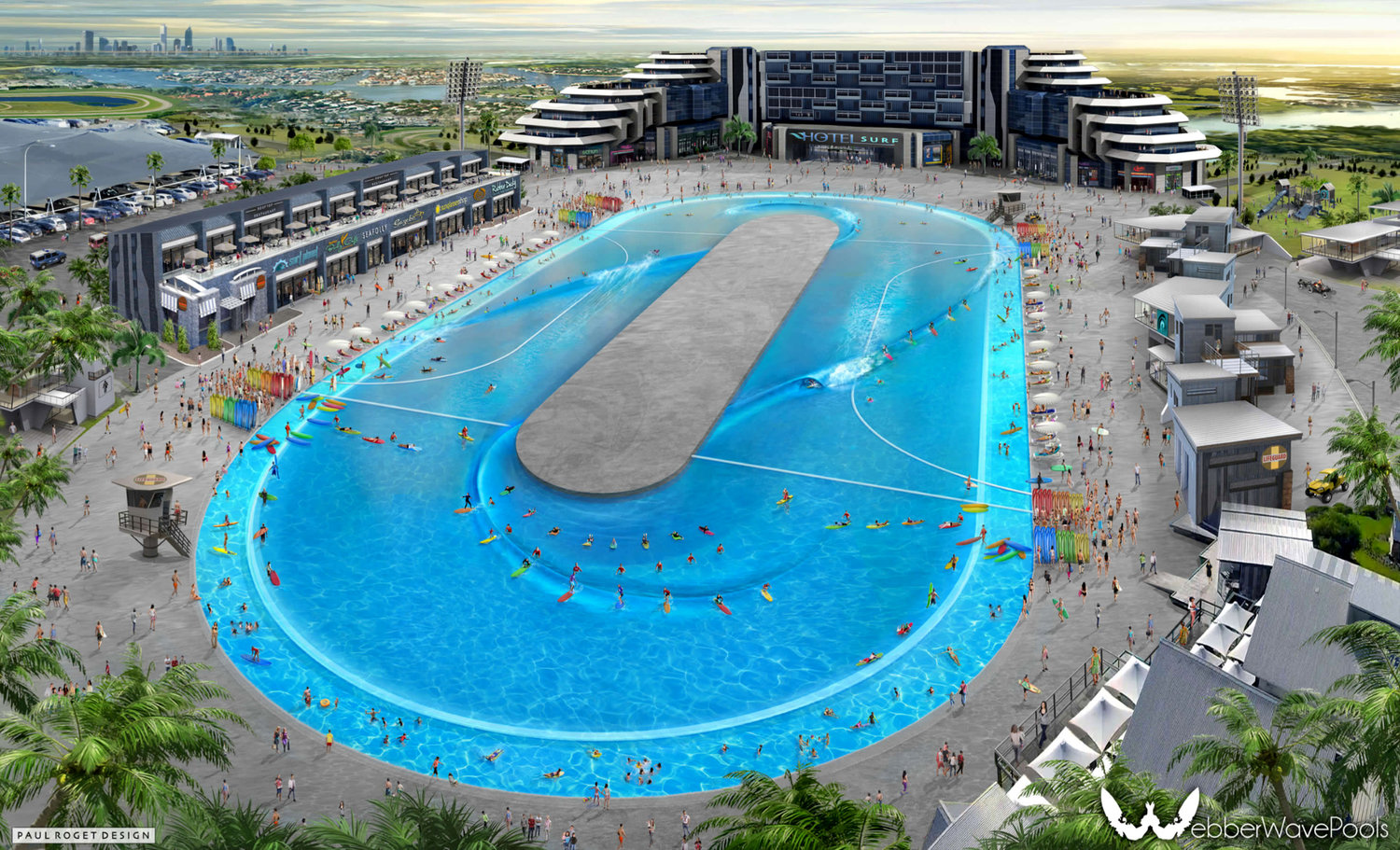 The future of wave pools according to Greg Webber... coming soon to a suburban lot near you (if you live in Queensland, that is). Photo: Greg Webber.