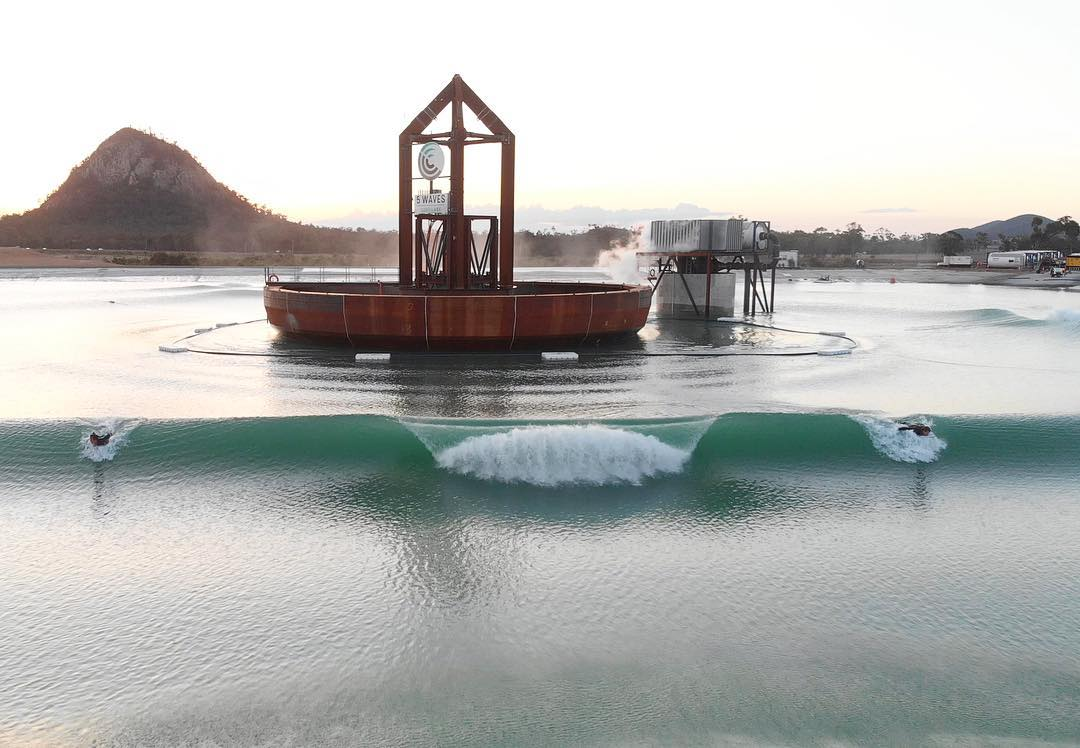 The post-apocalyptic plunge spectacular, in all its glory. Photo:  Surf Lakes
