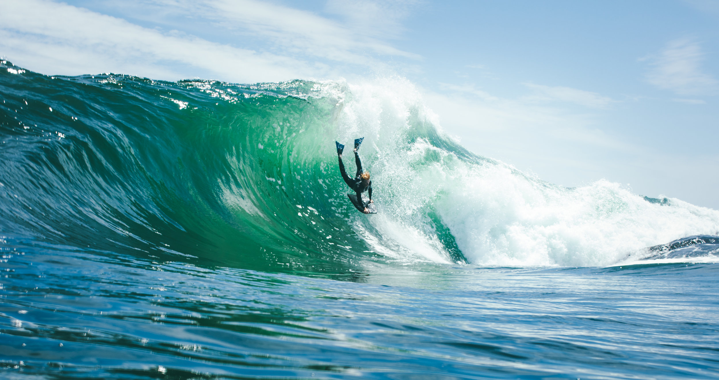 Team rider Wilder Schultz free falling at The Tand. Photography: Allan Horton