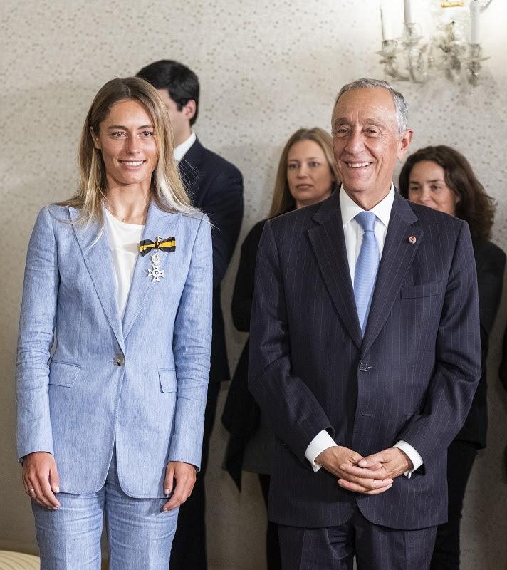 Joana with Portuguese President Marcelo Rebelo de Sousa
