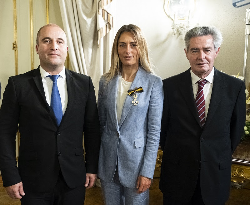Mayor of Vila do Bispo Adelino Soares, Joana Schenker and the President of Algfuturo José Vitorino,