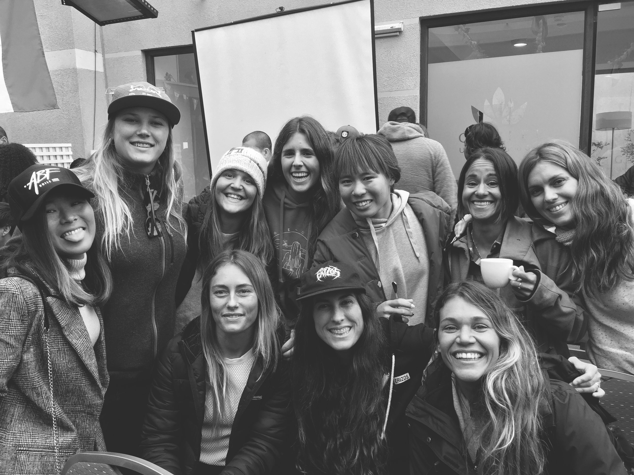The 'boogie chicks' in Chile recently.