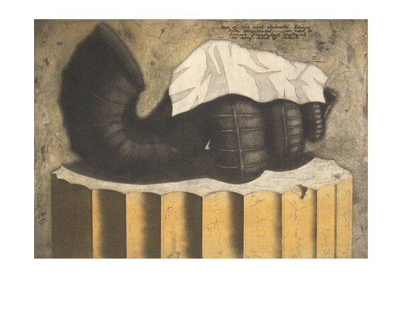 FRADULENT MATERIAL, aquatint/mezzotint/etching, 18 x 24""