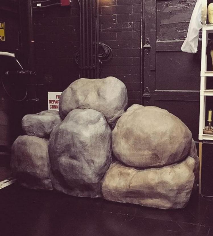 Photo Credit Timothy Mackabee, carved foam rock unit