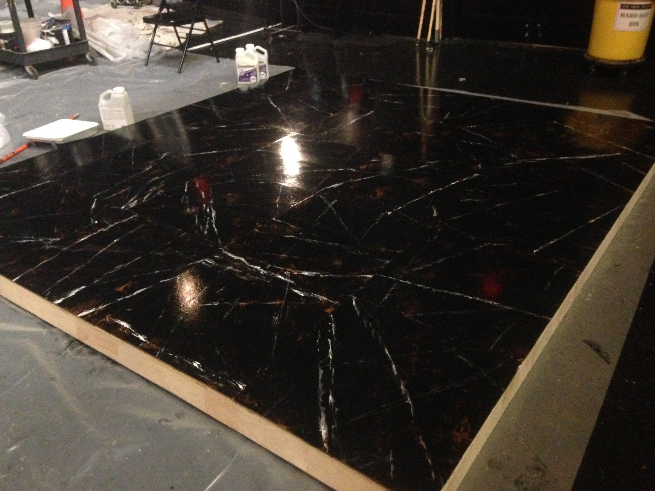 faux marble detail