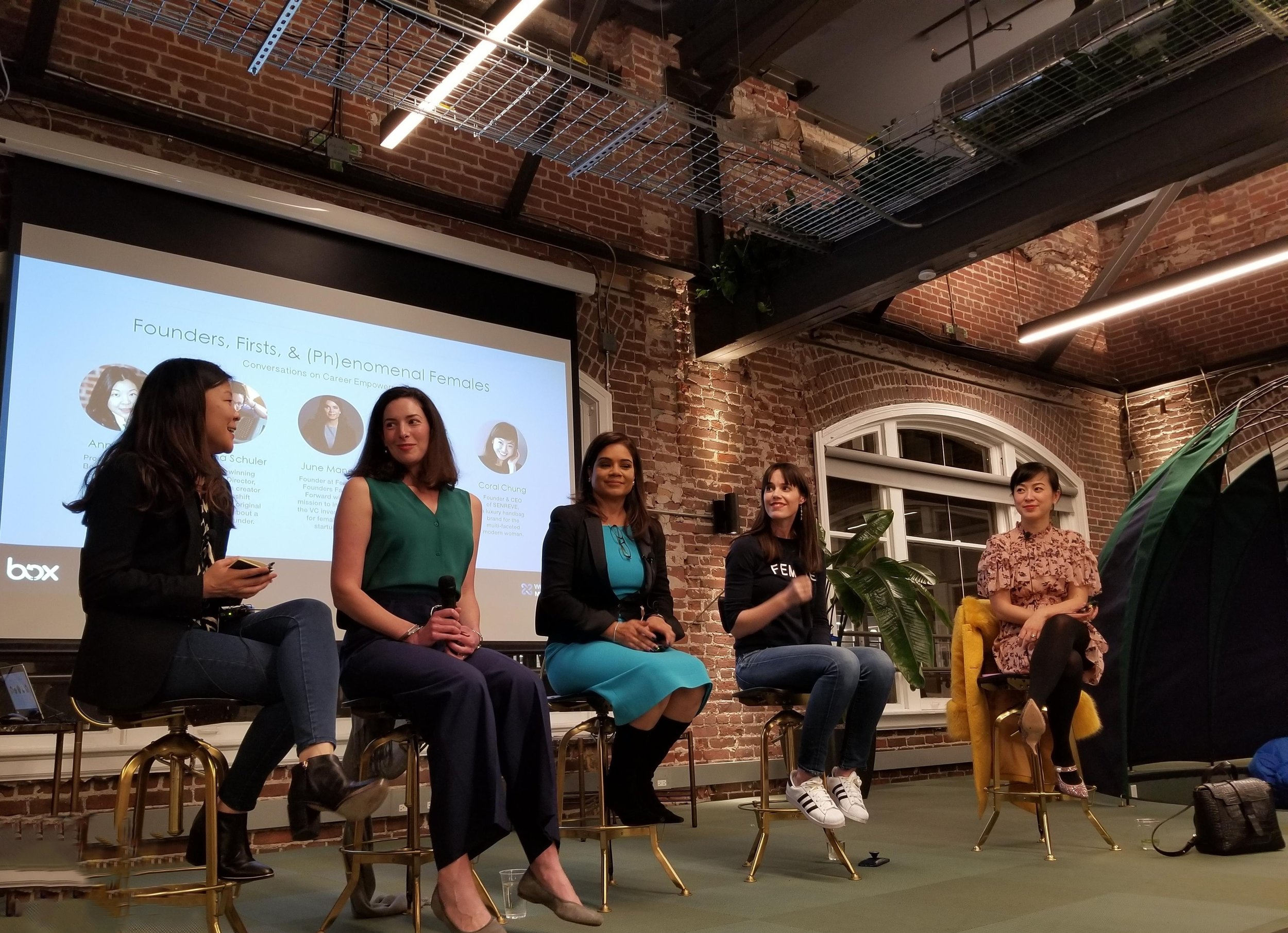 Anna Min (Founder of Min Edition), Serena Schuler (Series Creator of Makeshift Society), June Manely (Female Founders Faster Forward), Meaghan Rose (Founcer & CEO of Rocksbox), and Coral Chung (Co-Founder & CEO of Senreve).  Watch Panel Discussion Here