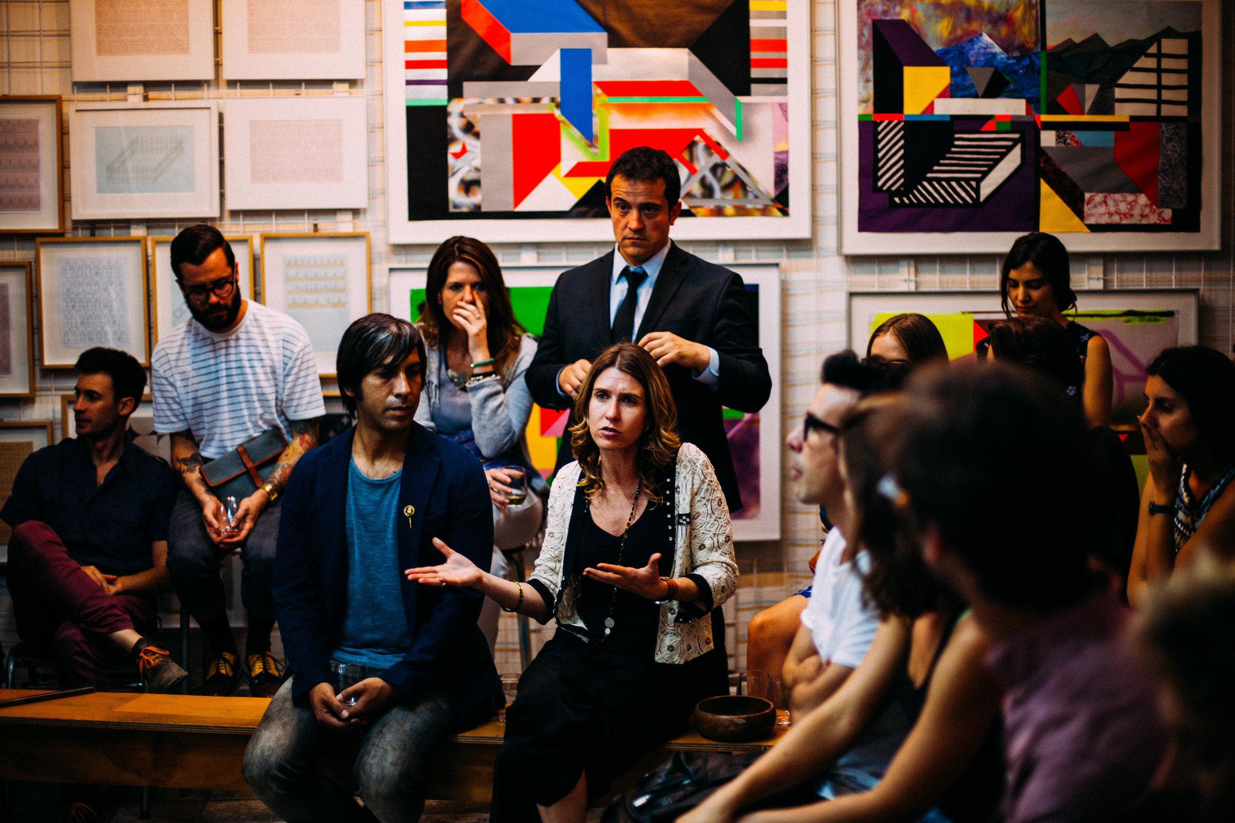 Attend public meetings -