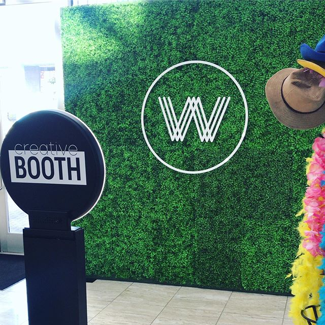 Bring the wow factor to your event with a branded hedge wall. 🍀#creativebooth#nashvillephotobooth#nashvilleevents#nashvilleevent#franklinphotobooth#tennesseephotobooth#musiccity#womenwhoworship#ascap#photobooth#experientialevents