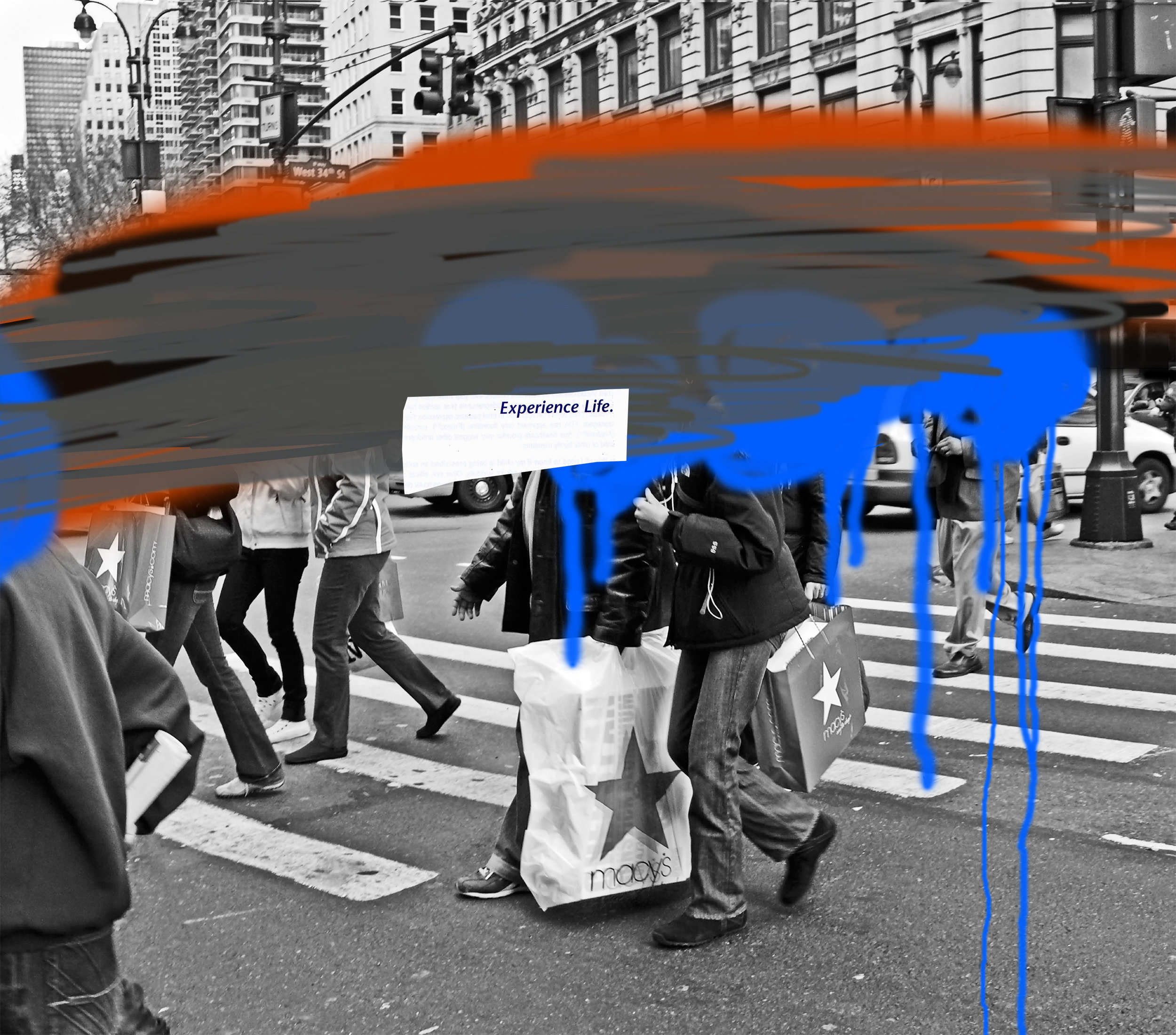 Ester Partegas,  Experience Life , 2007, from the series  We the People ,inkjet ultrachrome archival print, 44 x 50 inches;courtesy of the artist and Foxy Production, New York