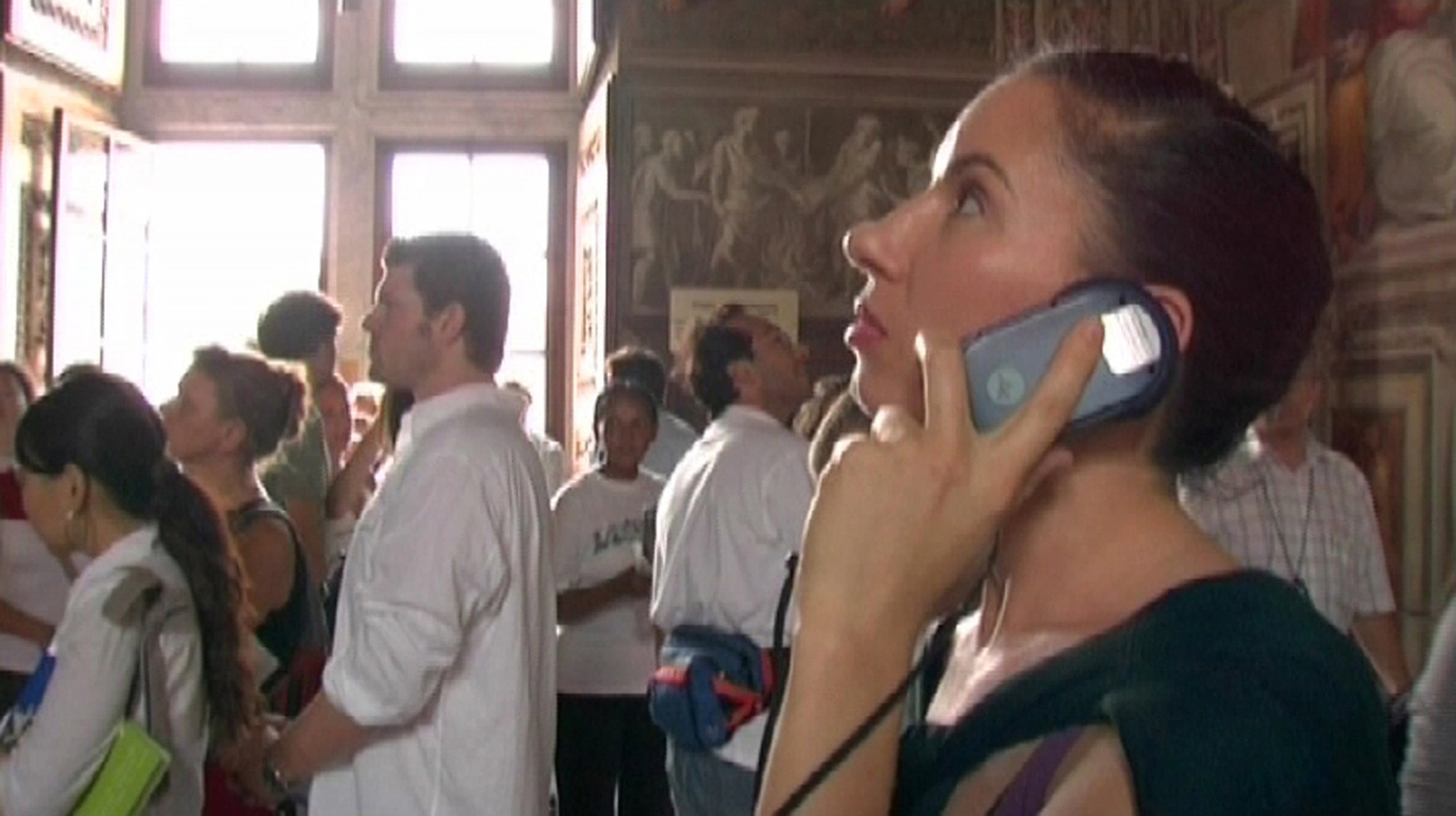 Andrea Fraser,  A Visit to the Sistine Chapel , 2005;DVD, 12 minutes;courtesy of the artist and Friedrich Petzel Gallery, New York