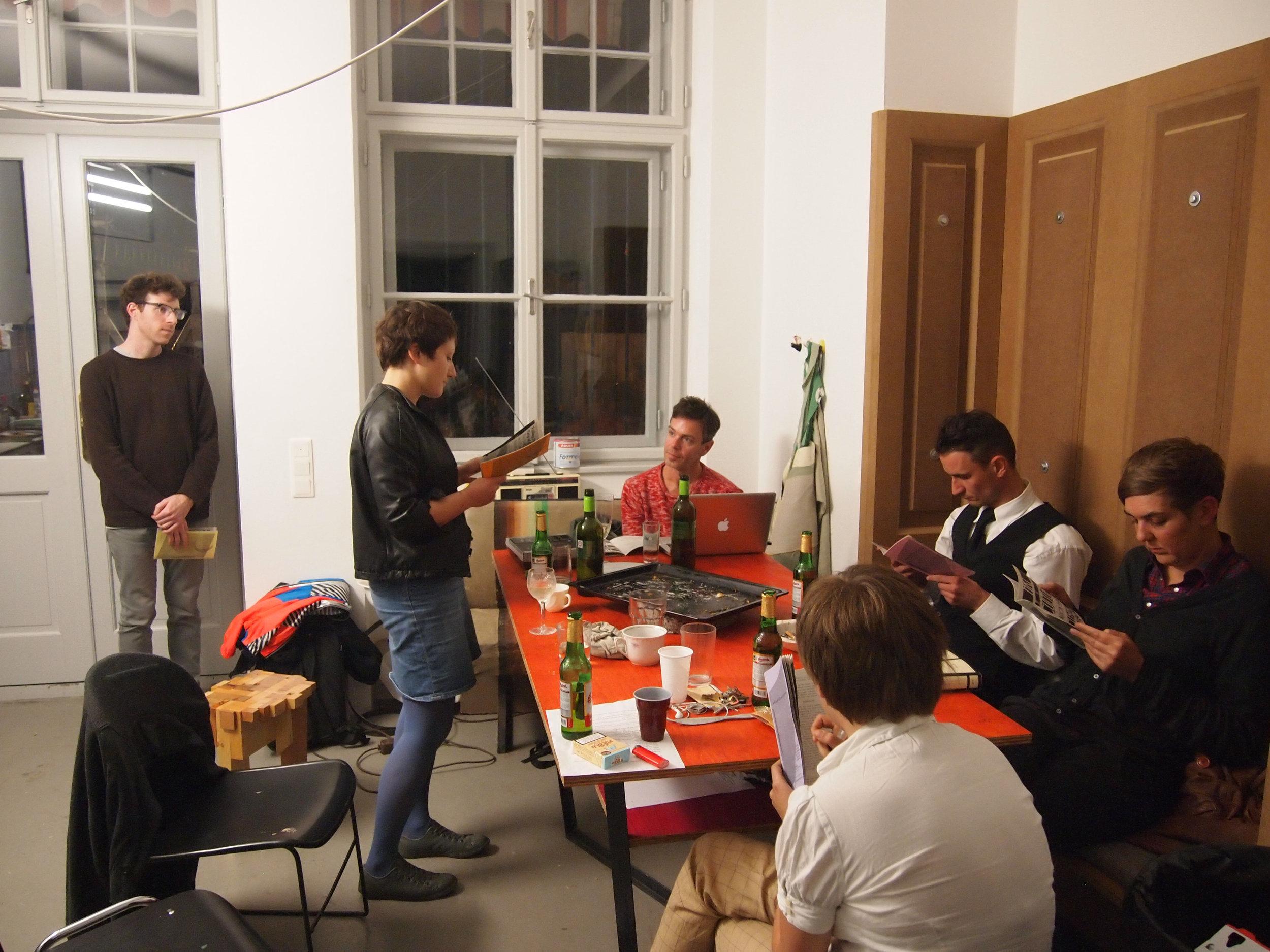 A rehearsal dinner