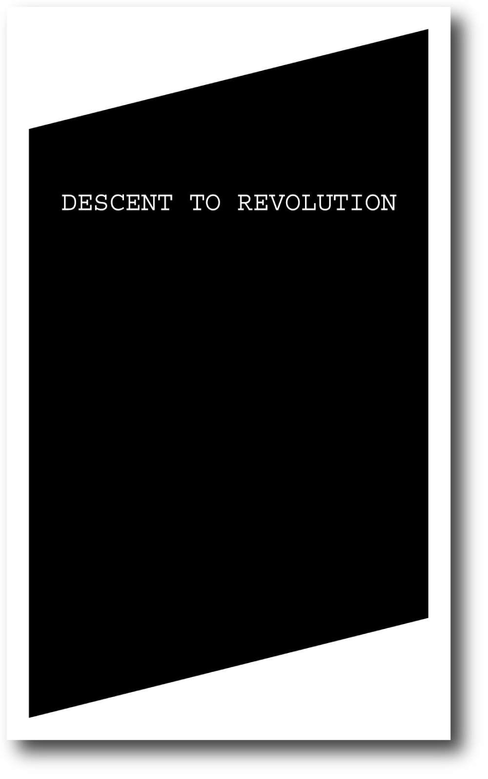 Descent to Revolution , published by Bureau for Open Culture, 2010; designed by Nate Padavick; 224 pages; 8.25 x 5 inches
