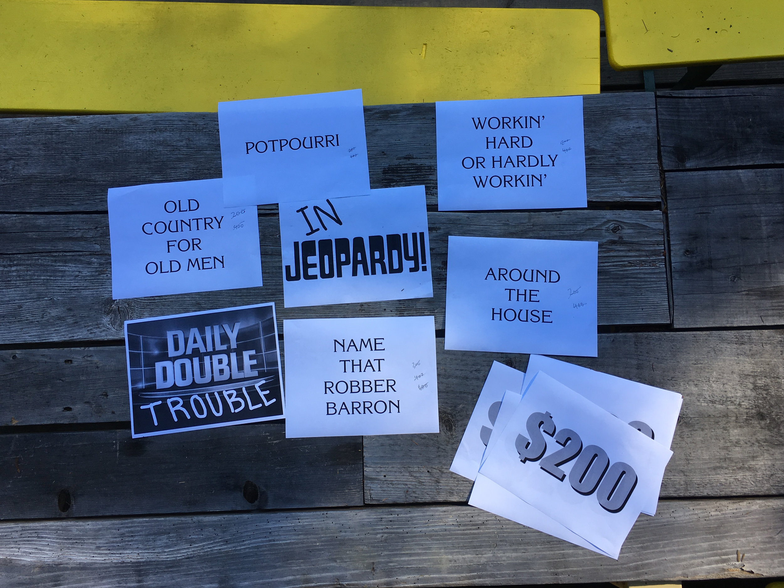 """In  Jeopardy."" Module: Artists, led by Kim Nguyen and Ryan Peter, Dawn Cabin, June 8, 2018."