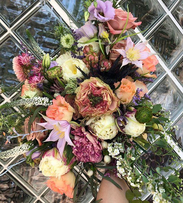 A beaut of a bouquet for a super beaut of a bride.  #bride #floraldesign #bouquet #springwedding #kcwedding #florist #forage #bridalbouquet