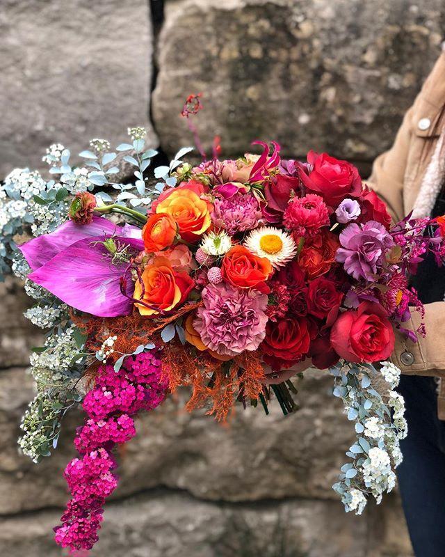 Technicolor bouquet day.