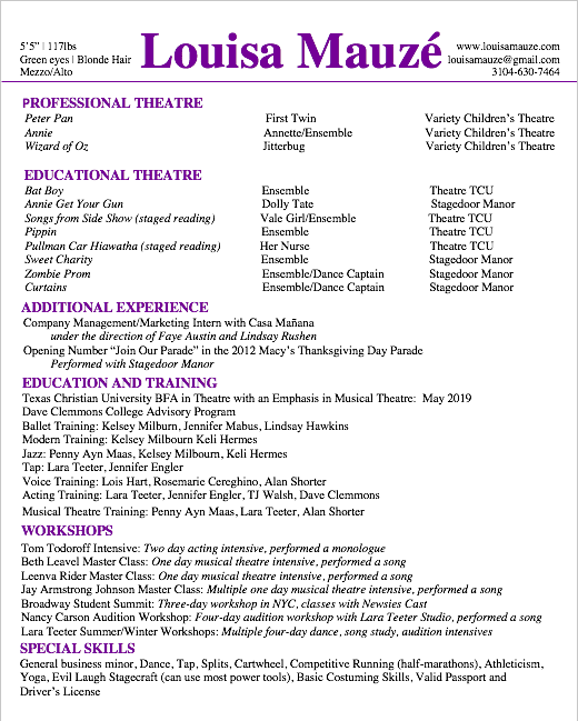 Mauzé Theatrical Resume.png