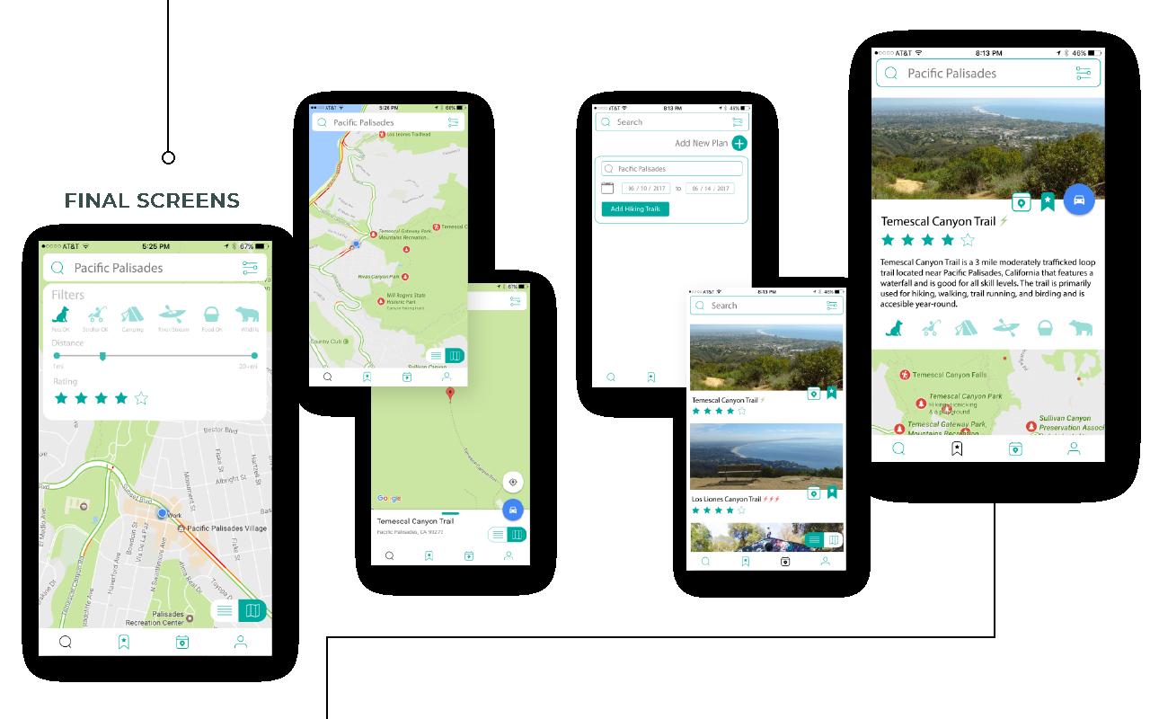 AllTrails App Redesign — SHADAE KAWAGUCHI