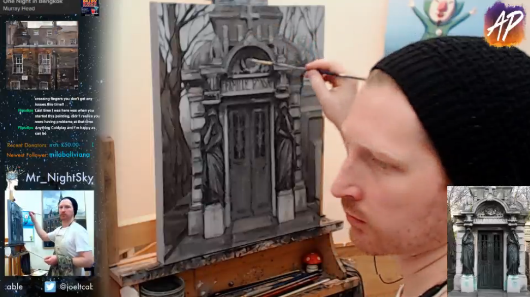 painting live on Twitch.tv