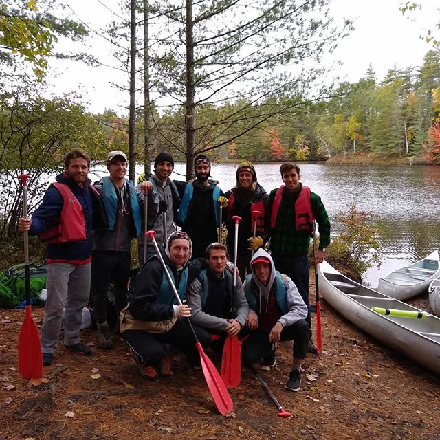 Good weekend for a chill(y) guys trip in the #adks! . . . #macscanoelivery #adk #adirondacks #paddleadk #fall #fallfoliage #rainbowlake