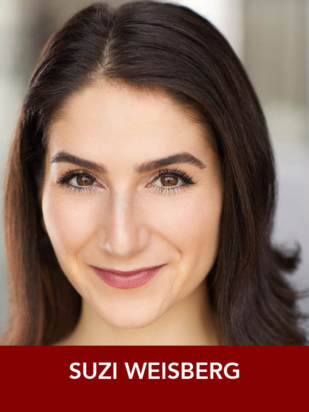 SUZI WEISBERG  ( Angel ) was last seen in Reagle's  A Chorus Line,  and last season's  Joseph… Dreamcoat  and  42nd Street . Regionally, Suzi has also performed at the Pittsburgh Playhouse and with Commonwealth Shakespeare Company. B.F.A.: Point Park University. Enjoy!