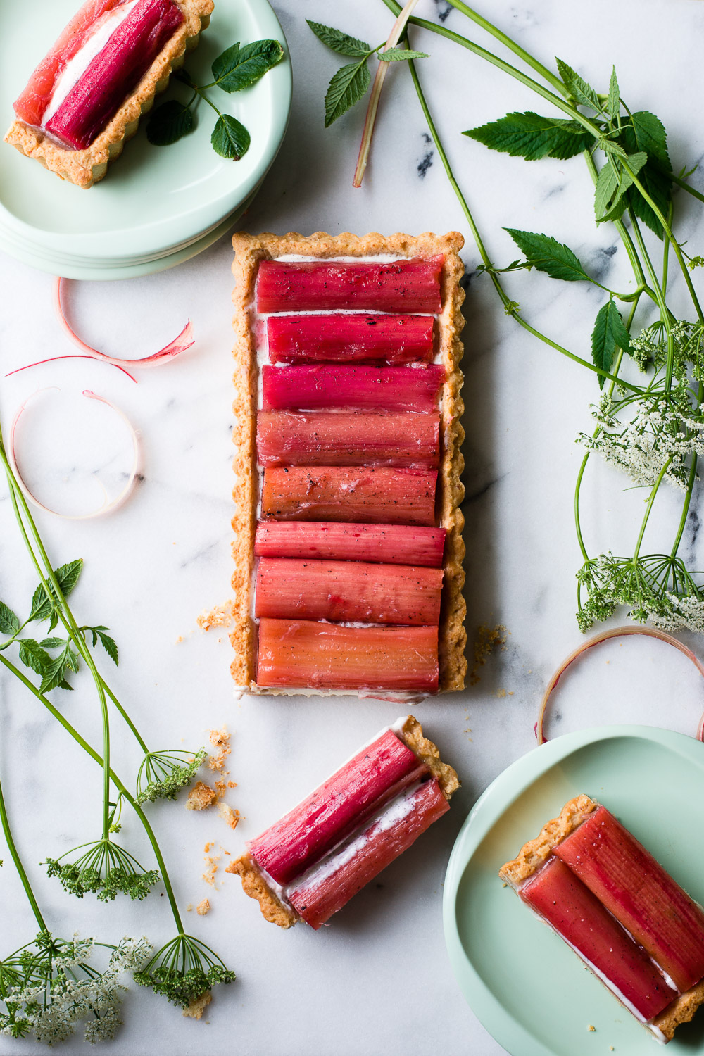 Rhubarb Yogurt Tart for Stonyfield Yogurt