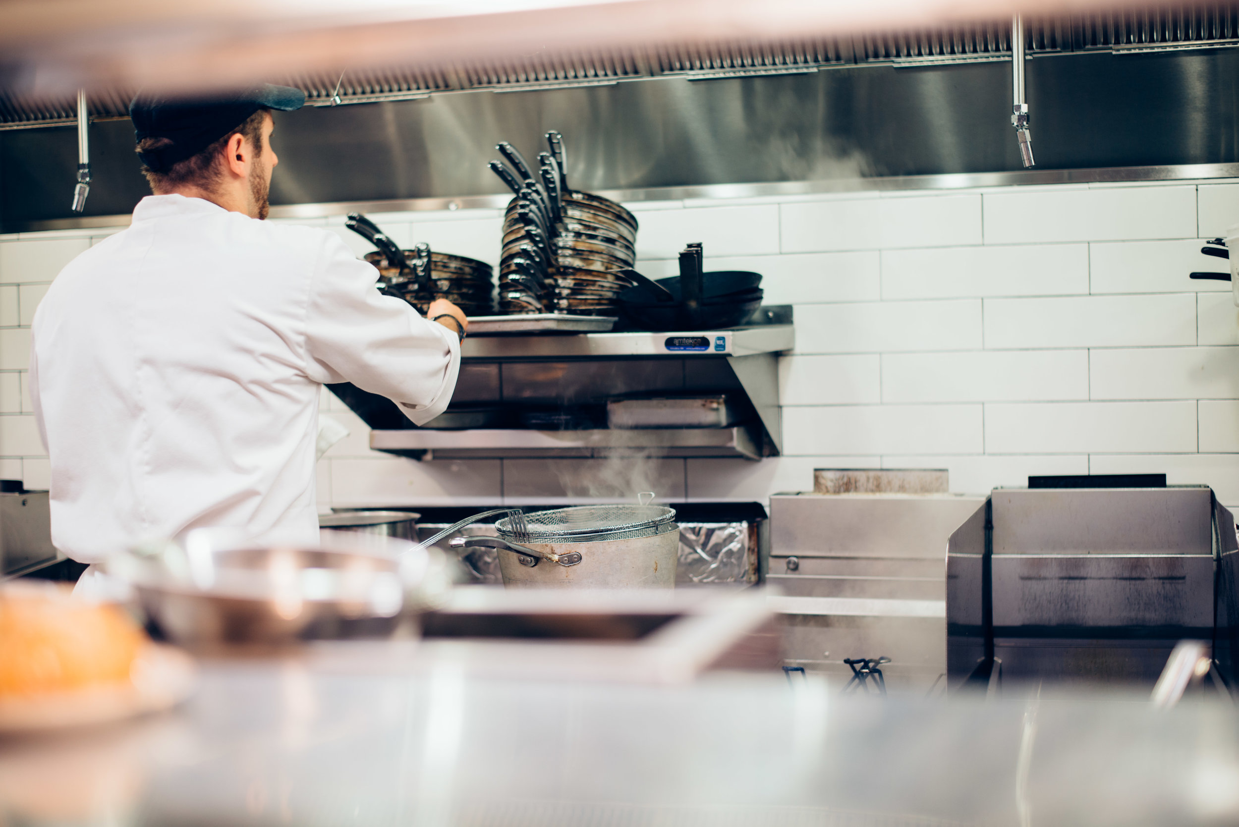 Chef in Kitchen at The Guild House Restaurant in Columbus, Ohio