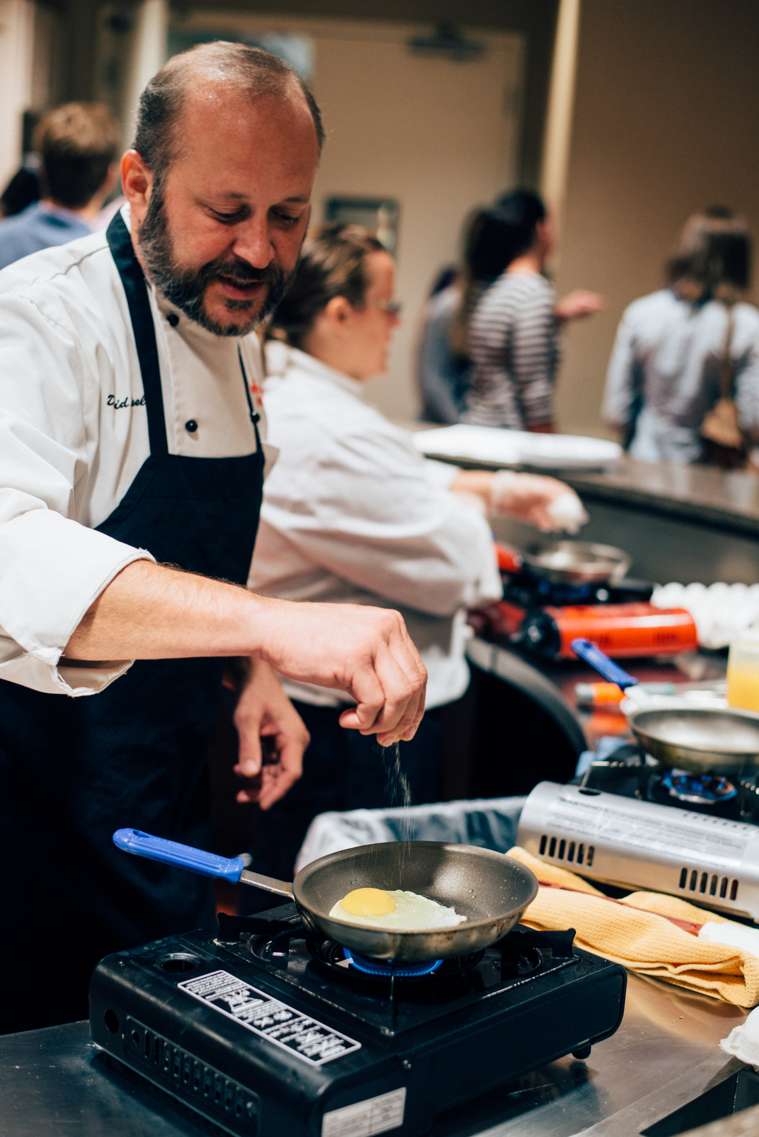 Chef Making Eggs at Bob Evans Headquarters