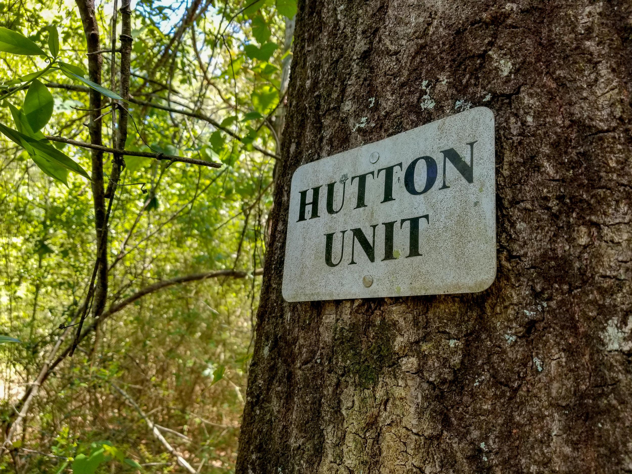 Hutton Unit Sign