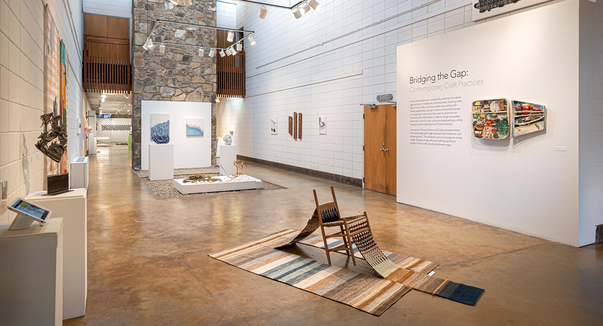 Bridging the Gap: Contemporary Craft Practices  installation view at Arrowmont's Sandra J. Blain Gallery. Photo by Robert Batey.