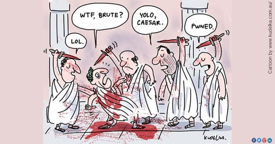 It didn't end well for Caesar, and.... - every March, we still warn people to Beware! Why it that? Has the Ides of March reached the same level of superstition as Friday 13th?Currently, my yr 12 ancient history class is researching the assassination of Julius Caesar and I am prepared to be a little more 'aware' this week! Who knows what Brutuses might be lurking in library ready to ....... well, if they do, they know they won't be getting a pass mark on their assignment! Perhaps I am safer than Caesar ever was!