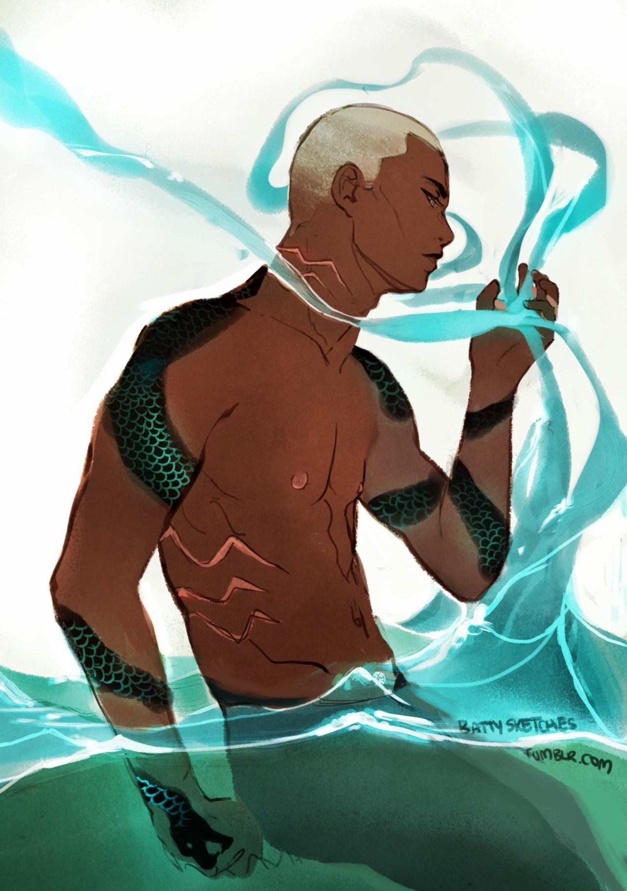 Sexy Merman Illustration