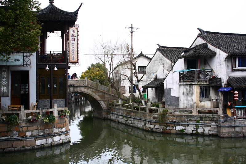 "The same town had a very different charisma in during the day time, when the air was slighter warmer  around 7-8 degrees. And yes, It did look like the ""Venice of East"". Beautiful China preserved its looks  and traditions."