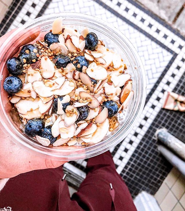 in search of the perfect post work-out treat? we've got you covered! . . . @palmacaicafe #acai #acaibowl #antioxidants #postworkoutmeal #energy #blueberry #beepollen #berkeley #elmwood 📷: @grainofsofia