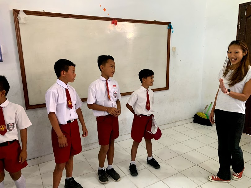 Hands-on experience - I got to work with the kids on some conversation by introducing myself and blow their minds a bit on the places I've lived and the languages I speak.